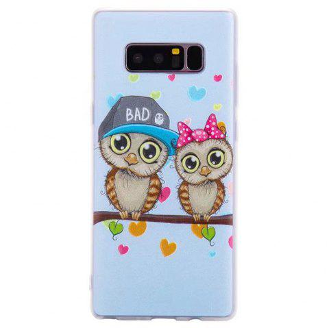 Color Pattern Soft TPU Back Phone Case for Samsung Galaxy Note 8 - LIGHT BLUE