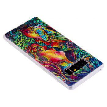 Color Pattern Soft TPU Back Phone Case for Samsung Galaxy Note 8 - GREEN