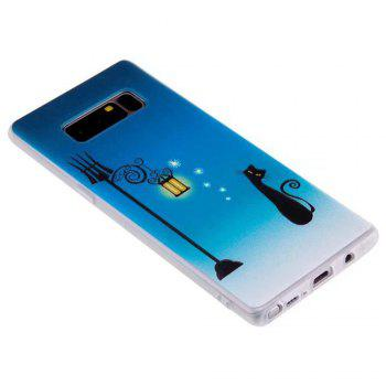 Color Pattern Soft TPU Back Phone Case for Samsung Galaxy Note 8 - BLUE