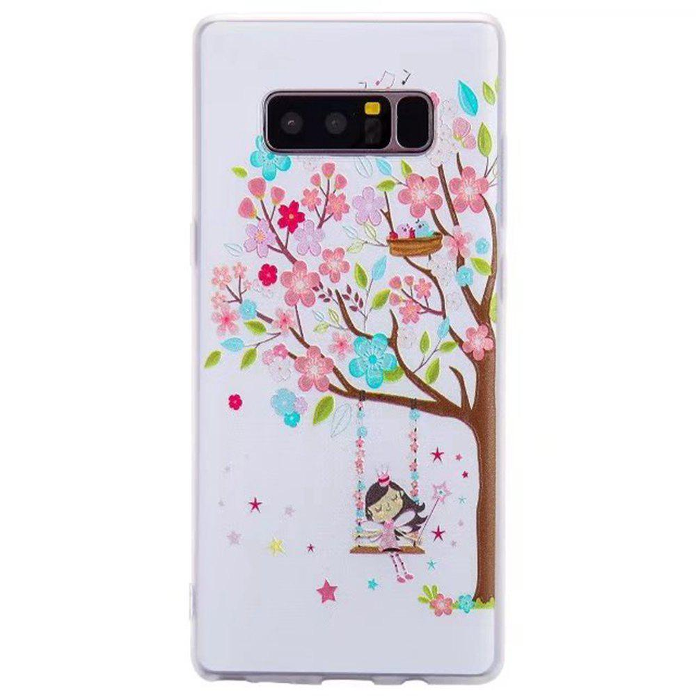 Color Pattern Soft TPU Back Phone Case for Samsung Galaxy Note 8 - BROWN