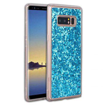 Shockproof Glitter Sparkly Dual Layer Hybrid Hard Soft TPU Bumper Anti-Slip Protective Case for Samsung Galaxy Note 8 - BLUE BLUE