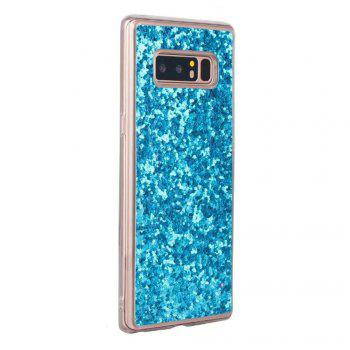 Shockproof Glitter Sparkly Dual Layer Hybrid Hard Soft TPU Bumper Anti-Slip Protective Case for Samsung Galaxy Note 8 - BLUE