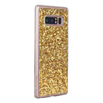 Shockproof Glitter Sparkly Dual Layer Hybrid Hard Soft TPU Bumper Anti-Slip Protective Case for Samsung Galaxy Note 8 -  GOLDEN