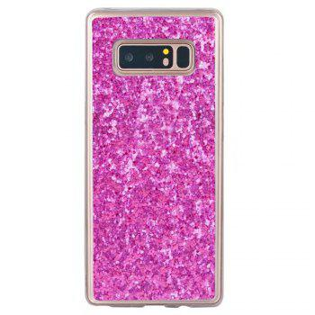 Shockproof Glitter Sparkly Dual Layer Hybrid Hard Soft TPU Bumper Anti-Slip Protective Case for Samsung Galaxy Note 8 -  ROSE RED