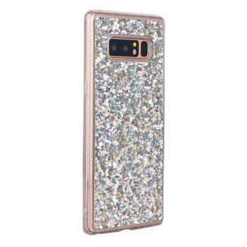 Shockproof Glitter Sparkly Dual Layer Hybrid Hard Soft TPU Bumper Anti-Slip Protective Case for Samsung Galaxy Note 8 -  SILVER
