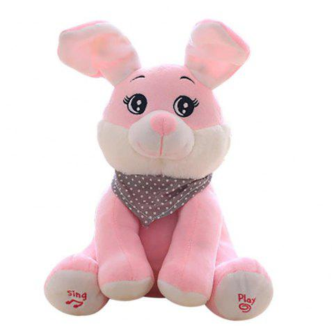 Singing Rabbit Soft Stuffed Plush Toy - PINK