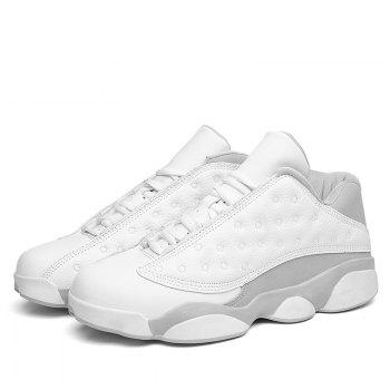 Autumn and Winter High Fashion Wear Resistant Men'S Basketball Shoes - WHITE WHITE