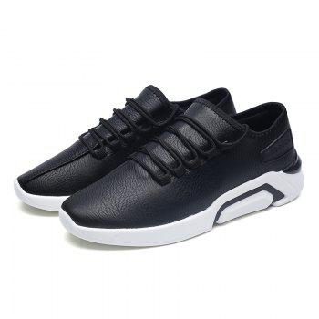 Autumn Increased Running Sports Men'S Shoes - BLACK BLACK