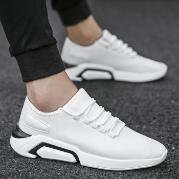Autumn Increased Running Sports Men'S Shoes - WHITE 40