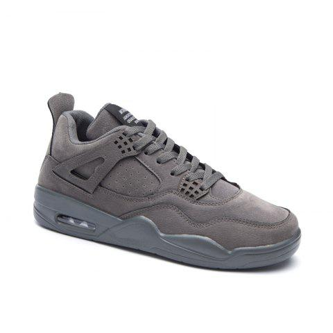 Autumn and Winter New Breathable Men'S Casual Sports Basketball Shoes - GRAY 40