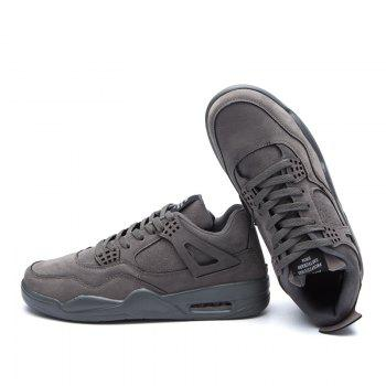 Autumn and Winter New Breathable Men'S Casual Sports Basketball Shoes - GRAY 39