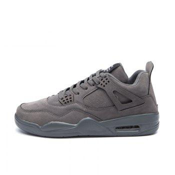 Autumn and Winter New Breathable Men'S Casual Sports Basketball Shoes - GRAY GRAY