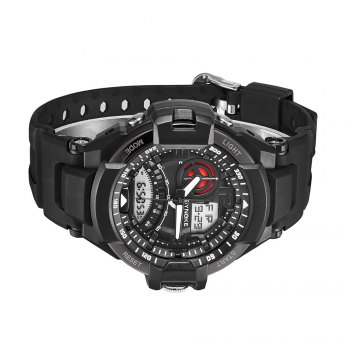 SYNOKE 67876 Trendy Waterproof Multifunctionable Men Watch -  BLACK