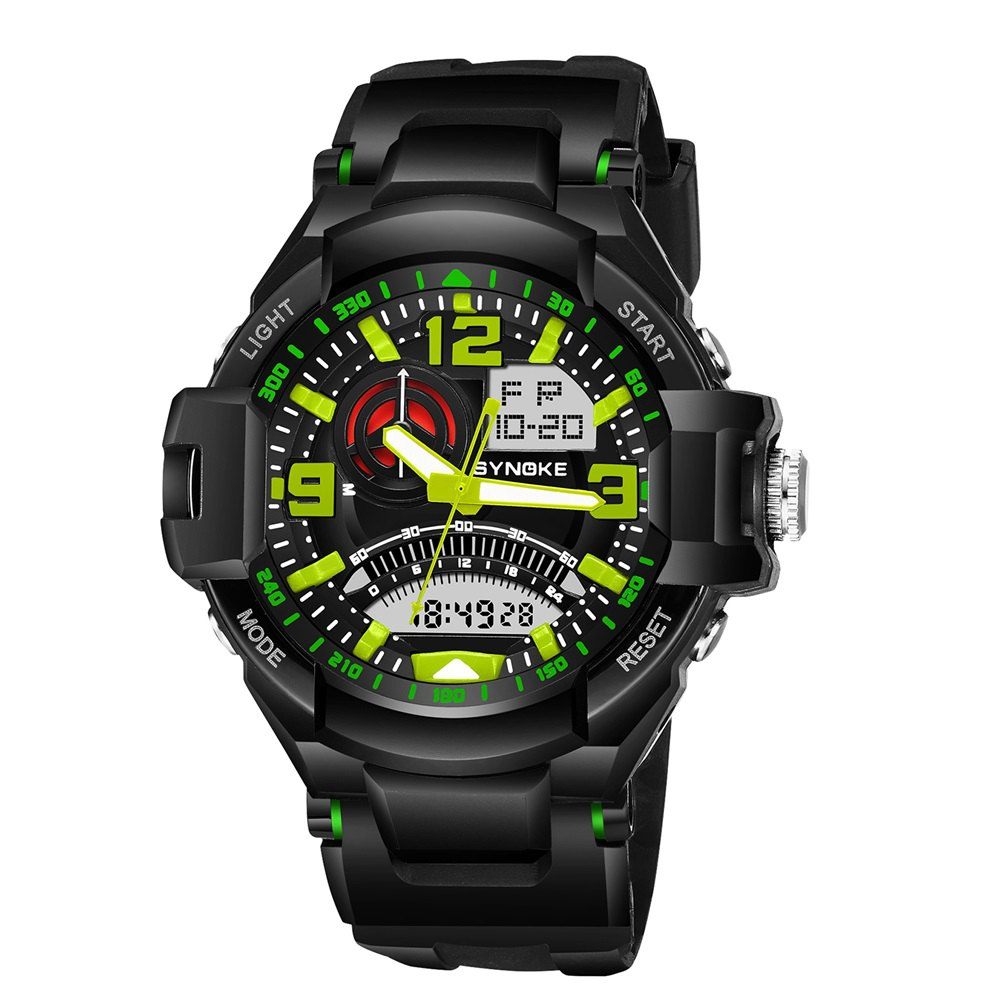 SYNOKE 67876 Trendy Waterproof Multifunctionable Men Watch - IVY