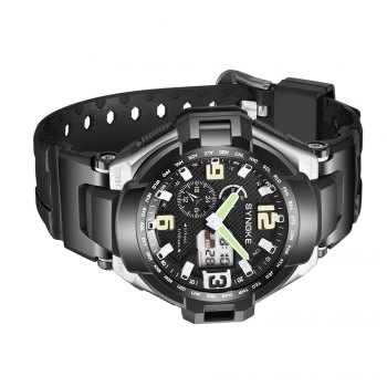 SYNOKE 67606 Outdoor Multifunctionable Student Electronic Male Watch -  BLACK