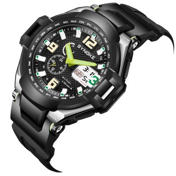 SYNOKE 67606 Outdoor Mountaineering Multifunction Men Watch - GREEN