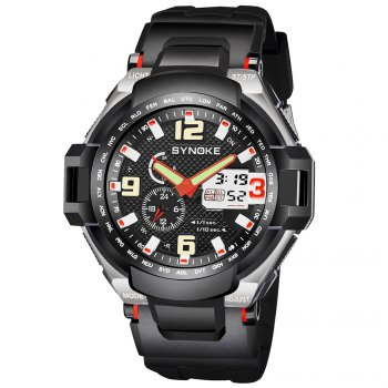 SYNOKE 67606 Outdoor Multifunctionable Student Electronic Male Watch - RED RED