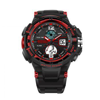 SANDA Large 5319 Fashion Outdoor Sports Men Watch Luminous Watch with Box - RED RED