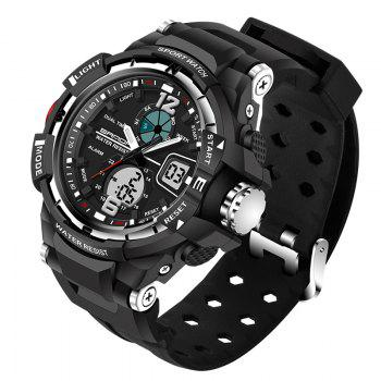 SANDA Large 5319 Fashion Outdoor Sports Men Watch Luminous Watch with Box - SILVER