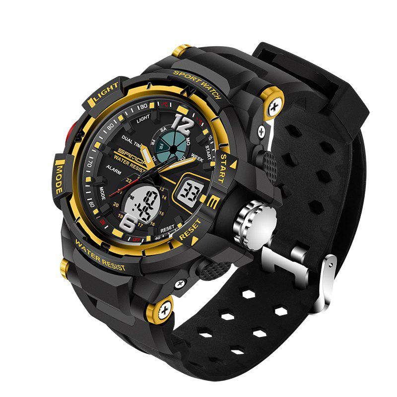 SANDA Large 5319 Fashion Outdoor Sports Men Watch Luminous Watch with Box - GOLDEN