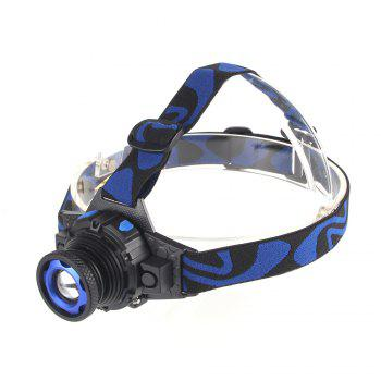 UltraFire XM-T6 500LM 3-Position Light Focusing Headlamps - BLACK AND BLUE BLACK/BLUE