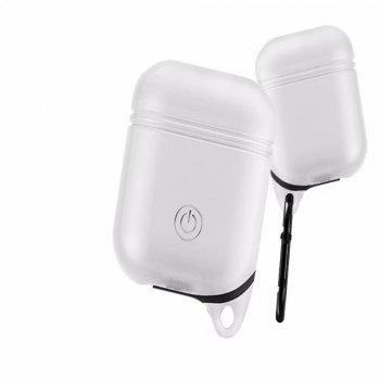 for Apple AirPods Case Silicone Shock Proof Protector Sleeve Skin Cover True Wireless Earphone - WHITE