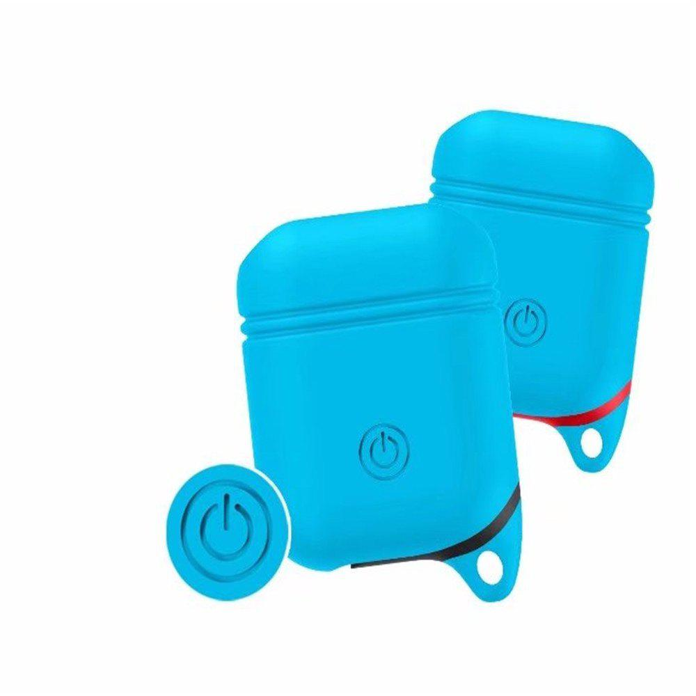 for Apple AirPods Case Silicone Shock Proof Protector Sleeve Skin Cover True Wireless Earphone - BLUE