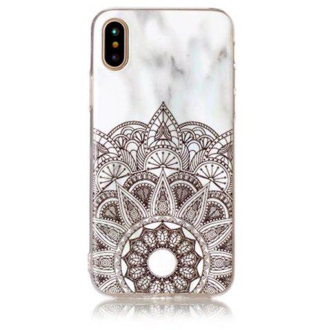 Slim Shockproof Flexible TPU Soft Case Rubber Silicone Skin Cover for iPhone X - WHITE/BLACK