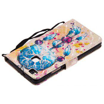 Explosions 3D Painted PU Phone Case for HUAWEI P9 Lite - BLUE