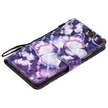Explosions 3D Painted PU Phone Case for HUAWEI P9 Lite - PURPLE