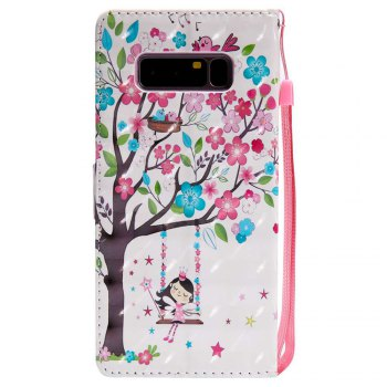 Explosions 3D Painted PU Phone Case for Samsung Galaxy Note 8 - PINK
