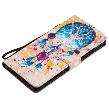 Explosions 3D Painted PU Phone Case for Samsung Galaxy Note 8 - BLUE