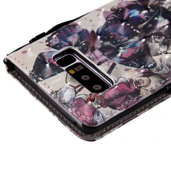 Explosions 3D Painted PU Phone Case for Samsung Galaxy Note 8 - BLACK