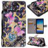 Explosions 3D Painted PU Phone Case for Samsung Galaxy Note 8 - BLACK / PINK