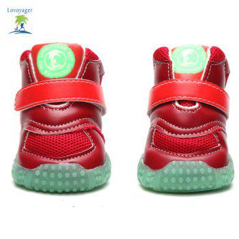 Lovoyager VB1024 Autumn and Winter Warm Antiskid Luminous Dog Shoes - RED RED