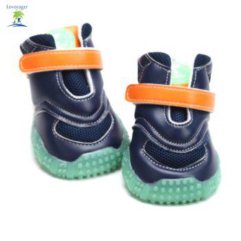 Lovoyager VB1024 Autumn and Winter Warm Antiskid Luminous Dog Shoes - BLUE XL
