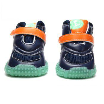 Lovoyager VB1024 Autumn and Winter Warm Antiskid Luminous Dog Shoes - BLUE L