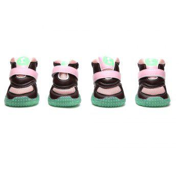Lovoyager VB1024 Autumn and Winter Warm Antiskid Luminous Dog Shoes - PINK PINK