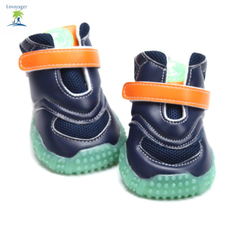 Lovoyager VB1024 Autumn and Winter Warm Antiskid Luminous Dog Shoes - BLUE S