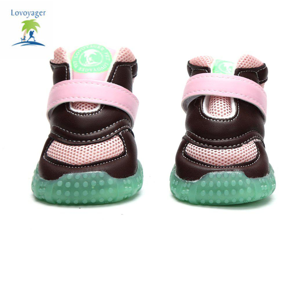 Lovoyager VB1024 Autumn and Winter Warm Antiskid Luminous Dog Shoes - PINK M