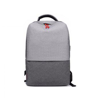 New Men's Backpack Fashion Business Sports Travel Bag - GRAY GRAY