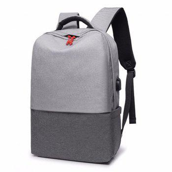 New Men's Backpack Fashion Business Sports Travel Bag - GRAY