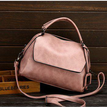 PU Leather Lady Handbag Fashion All Match Shoulder Messenger Bag - PINK