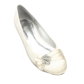 5049-4Women's Wedding Shoes Comfort Ballerina Spring - IVORY COLOR IVORY COLOR
