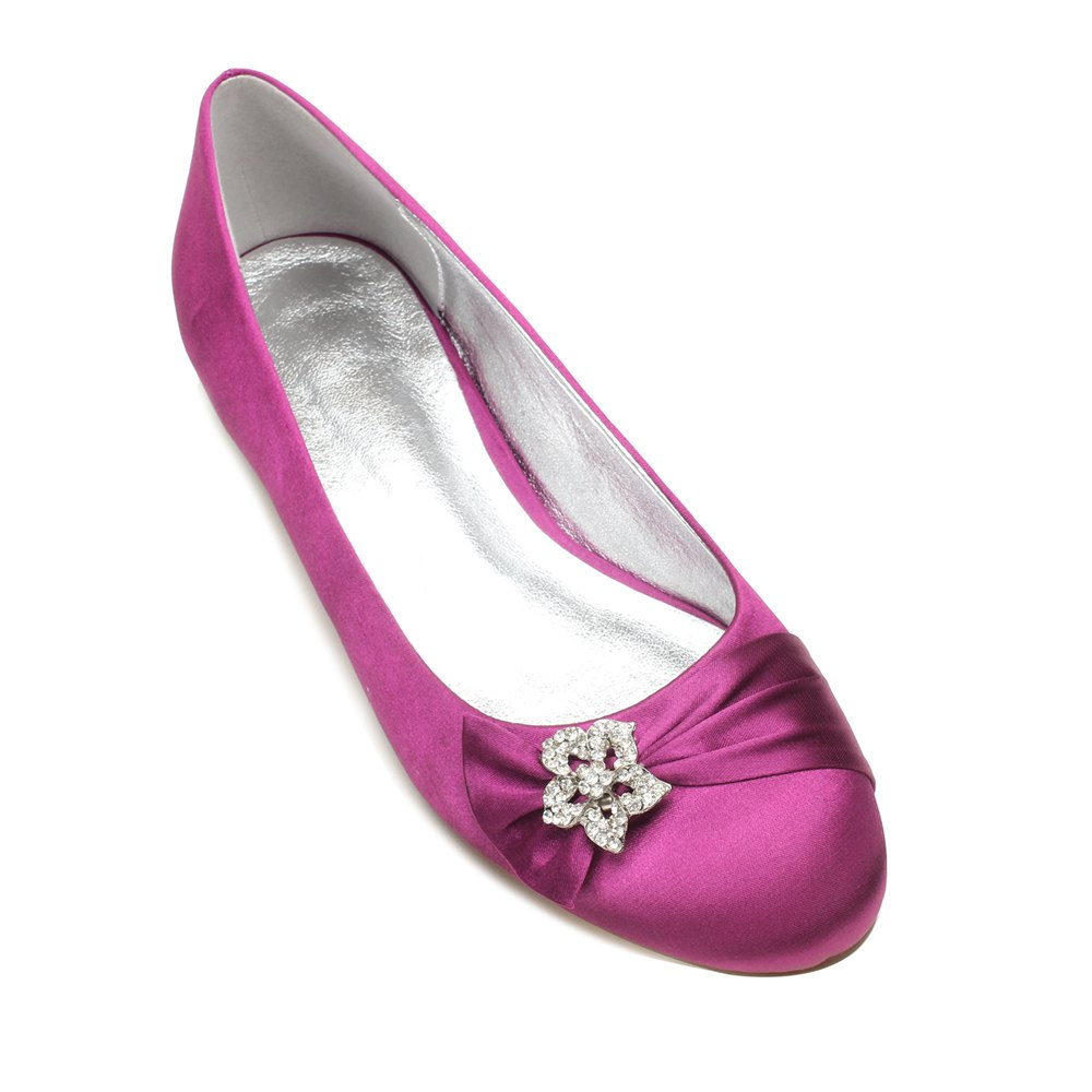 5049-4Women's Wedding Shoes Comfort Ballerina Spring - PURPLE 41