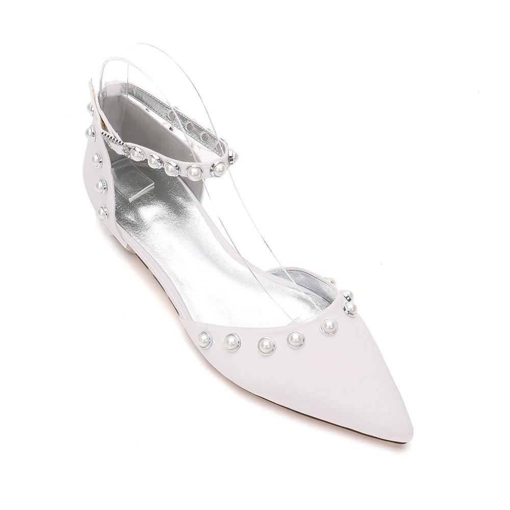 41 Off 2020 5047 13flat Heel Women S Wedding Shoes In Ivory