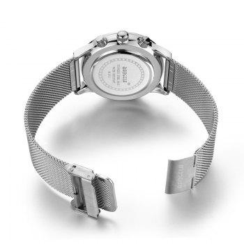 BAOGELA 1611 Chronograph Men Watch with Multi-function Stainless Steel Mesh Band - SILVER