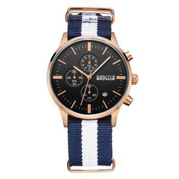 BAOGELA 1611 Man Casual Waterproof  Multifunctional Watch - ROSE GOLD AND BLACK AND BLUE ROSE GOLD/BLACK/BLUE