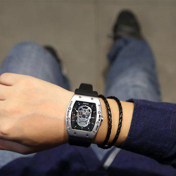Baogela 1612 à la mode Creative Silicon Band Hommes Montre - Blanc