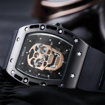 Baogela 1612 Fashionable Creative Silicon Band Men Watch -  BLACK GOLD